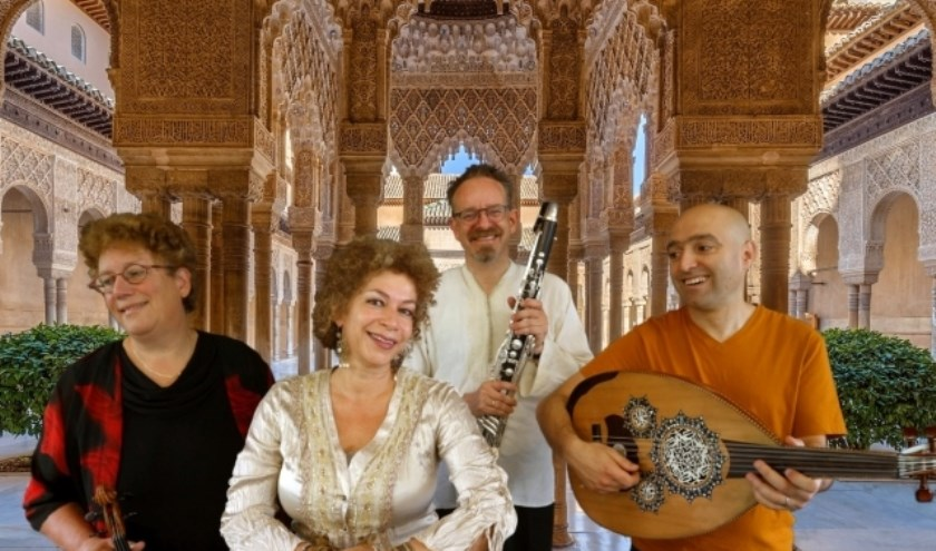 Van links naar rechts Monique Lansdorp, Rolinha Kross, Gottfrid van Eck en Haytham Safia