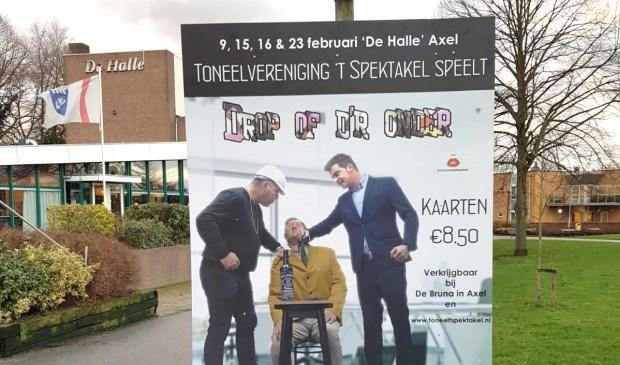 De vier voorstellingen vinden plaats in cultureel centrum De Halle in Axel.