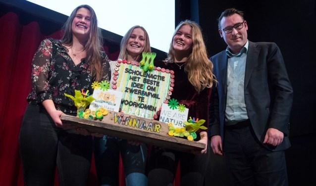 De winnaars van het scholenproject. (Foto: Emmy de Graaf)