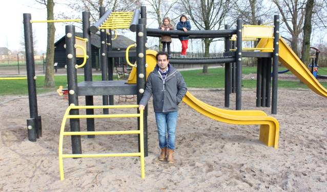 Het huidige speeltoestel in het toekomstige natuurspeelpark 't Kwetterbeekje wordt vervangen. Foto: Wendy van Lijssel