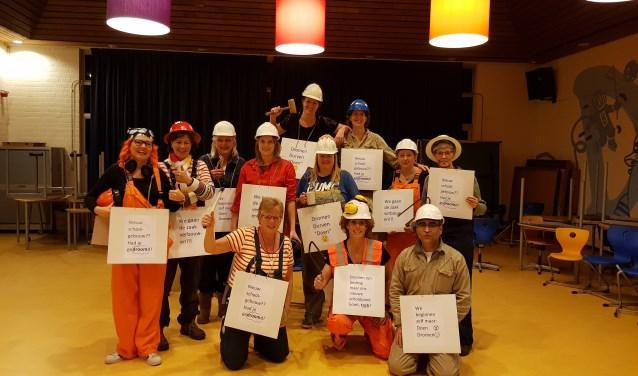 Het bouwteam van Basisschool de Dromenvanger in Oudheusden is er klaar voor.