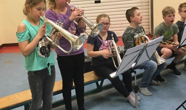 De muzieklessen worden gegeven aan de bovenbouw van Montessori Sterrenschool. De eerste les was vorige week.