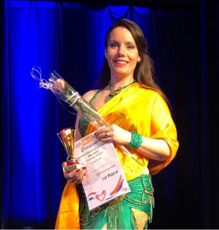 Angela is de beste buikdanseres van Nederland. FOTO: PR