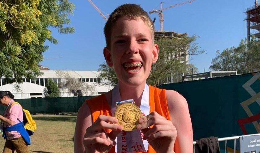 Danny de Korte behaalt Goud op de 100 meter.