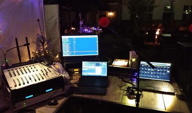 Klokradio live bij Kaarsjesavond Nieuwpoort. (Foto: pr)