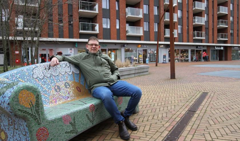Guus Nieuwenhuizen stond mede aan de basis van Winkeliersvereniging Meerhoven. FOTO: Ad Adriaans.