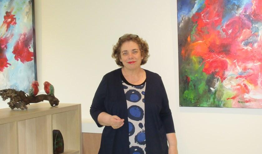 Martine van Es van Kunst met een Koekje. Foto: Ria van Vredendaal