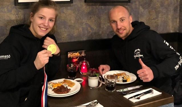 De blijdschap én de honger waren groot bij zowel Renée van Harselaar als haar coach Sirach Cooiman.