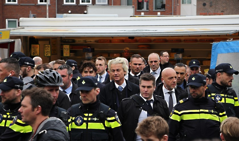 Geert Wilders in Spijkenisse. Foto: Martin Marcus