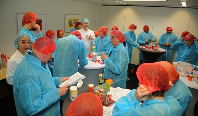 Meer dan 50 belangstellenden meldden zich aan voor een bedrijfsbezoek bij Grozette.