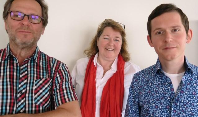 De fractie van de PvdA: vrnl Jeroen Rijsdijk, Arianne Ripmeester en Jilles Soffree. (Foto: GvS)