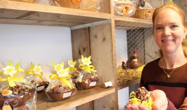 Jessika Spaans werkt al sinds 1987 in de chocoladebusiness. Afgelopen december heeft ze het geschopt tot eigenaar van Bonbons Exclusief.