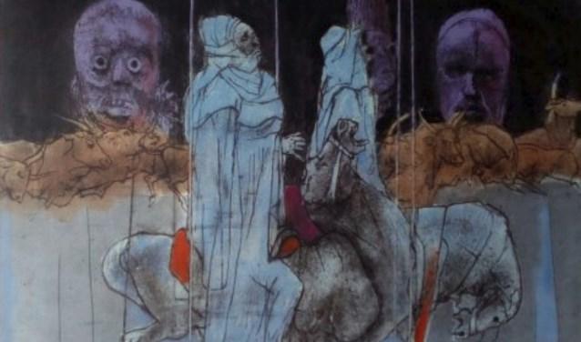 Genieten van kunst in oude kerkje van Velp.