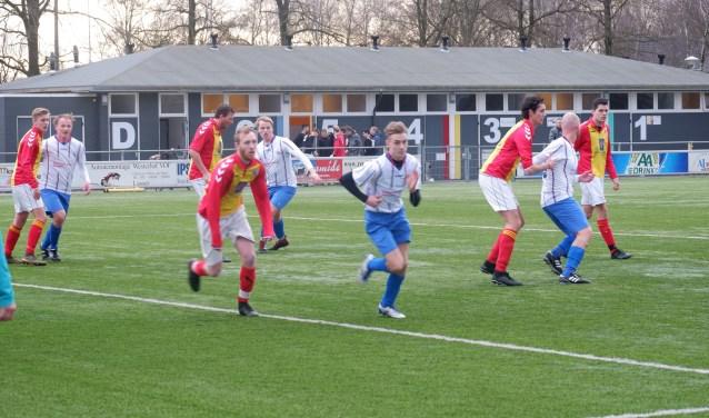AJc in actie in de gewonnen wedstrijd tegen Achilles Enschede. Foto: Marcel Jonker
