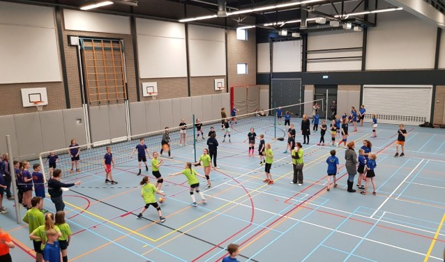 Scholenvolleybaltoernooi in 2018.