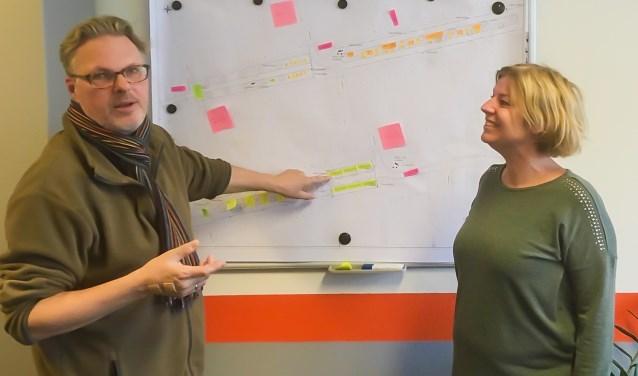 Hans van Kooten en Natasja Torcqué zijn enthousiast over de opening van de vernieuwde Voorstraat. Foto: Jacques Stam