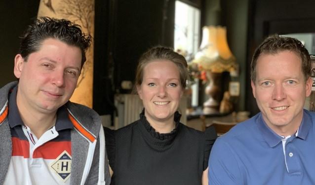 Initiatiefnemers van de thema-avond, v.l.n.r.: Marco Bijl, Evelien Jansen en Wilco den Hartog.
