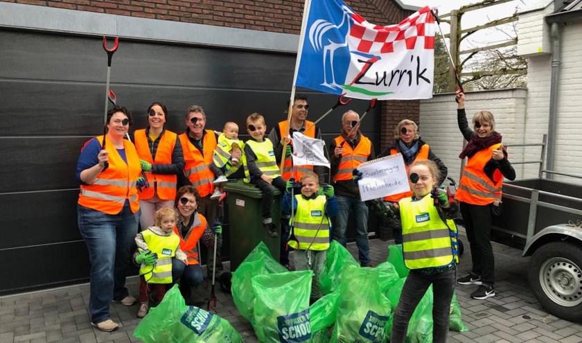 De afvalpiraten van Buurtvereniging Molenheide gingen er met de hoofdprijs van door.