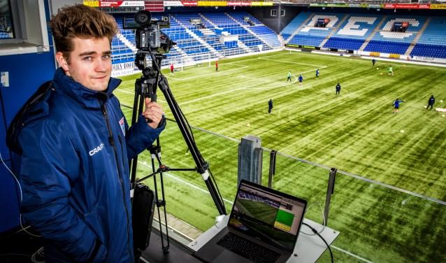 Brent van Ooijen op het videoplatform van het MAC3PARK Stadion.