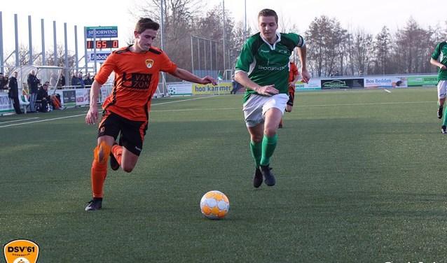 DSV'61 ging zaterdag voor het eerst onderuit na vier wedstrijden zonder nederlaag. Foto: Johan Riezebos
