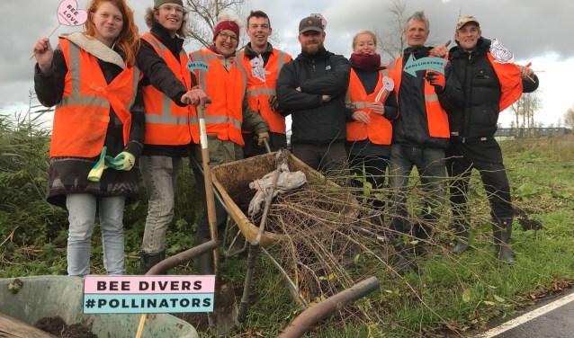 Een enthousiaste groep vrijwilligers heeft zich al aan de boomgaard verbonden. Eigen foto