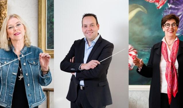 Drie van de deelnemers aan Maestro 073; Madeleine van Toorenburg, Patrick Kuis en Karin Rademaker. Foto: Peter Kasbergen