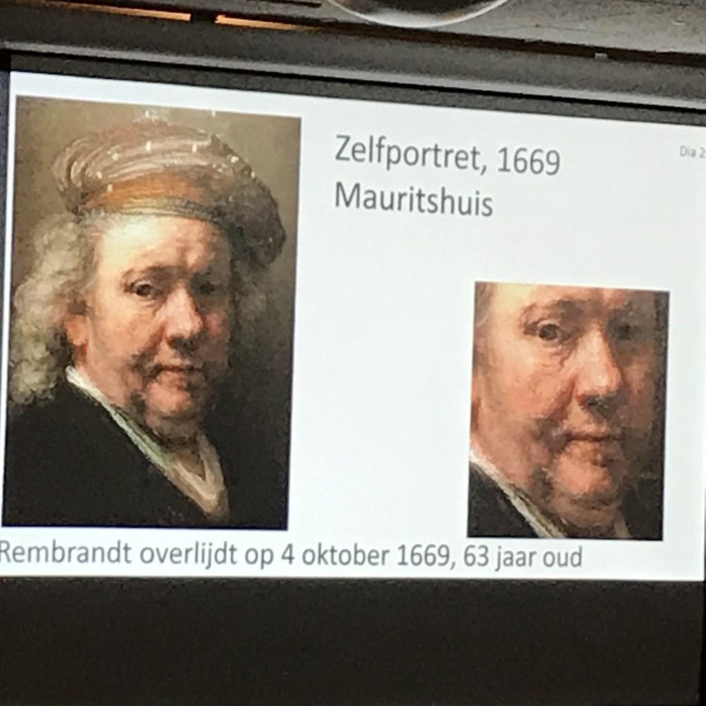 Lezing Rembrandt en tijdgenoten door Drs. Nelly Spanjersberg bij Senioren Belangen. Foto: Cees Broekhuizen © Persgroep