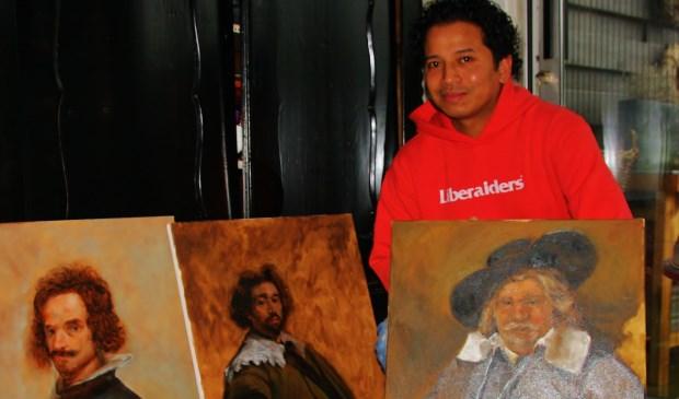 Ruben Lopulalan zit in de finale van 'Projet Rembrandt'. Foto: Jeroen Danz