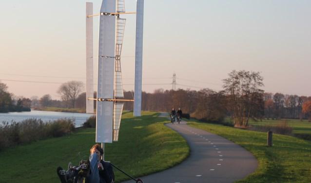 Een prototype van de WindWheeler. Foto: Frank Stoter
