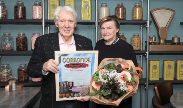 Theo van Mullekom en zijn echtgenote. Foto: Harrie van der Sanden.