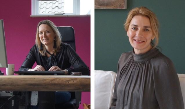 Links: Janine Kooijman, rechts: Ozrenka Knezevic. Beide ondernemende en krachtige vrouwen.