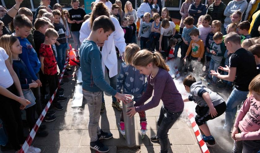 De afgelopen weken werden de kinderen door de 'professoren' van 'Wattsonslab' bijgespijkerd over duurzaamheid.