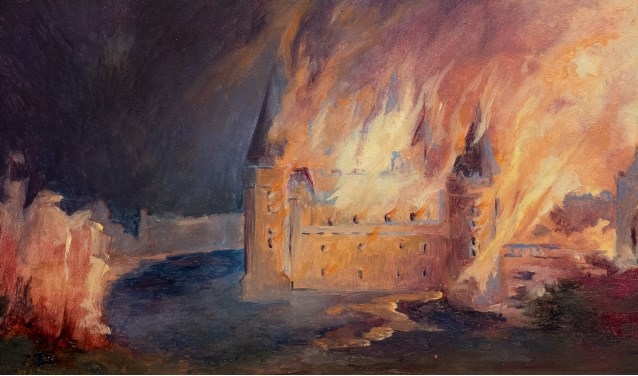 Mineke Gravers - Kasteel van Bredevoort in brand (1646)