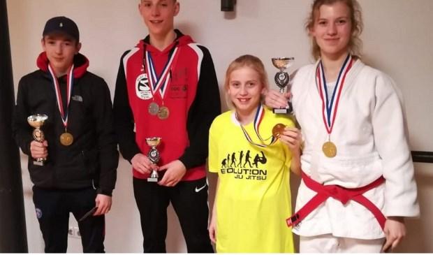 De medaillewinnaars in Steenwijk.