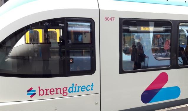 De trein van Breng rijden maandag gewoon tussen Arnhem en Doetinchem (en weer terug). (foto: Danny van der Kracht)