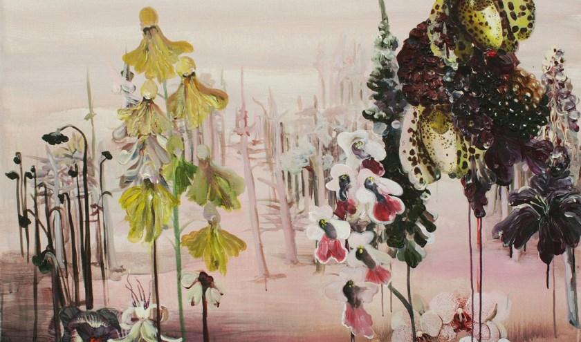 Ellen Grote Beverborg, zonder titel - 2012, acryl en gel op doek, 100 x 110 cm (fotograaf: Ellen Grote Beverborg)