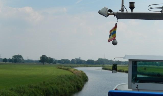 Vaartocht over de Oude IJssel tussen Doesburg en Doetinchem.