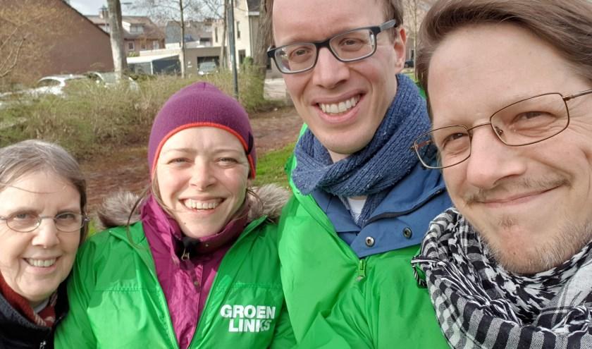 Vier GroenLinksers door stormend Dommelbergen