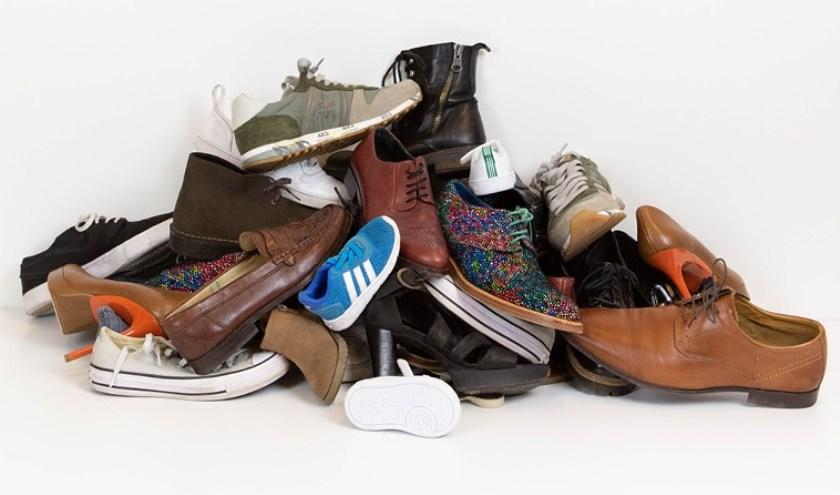 De ReShare Store van het Leger des Heils aan de Markendaalseweg 50 in Breda is op zoek naar herdraagbare schoenen. FOTO: ROOS KALLE