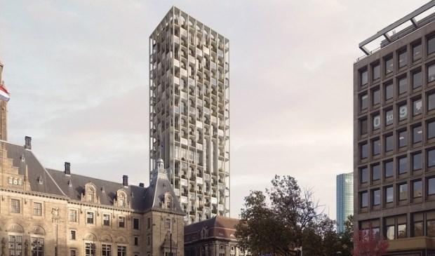 Het ontwerp van de Post Rotterdam. (Foto: Omnam Group)