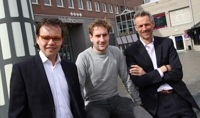 Vlnr: wethouder Daan de Kort, Renzo Dielesen en Jeroen van de Velden. FOTO: Ad Adriaans.