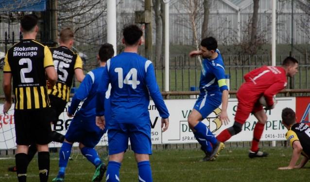 SC Capelle ging zaterdag in eigen huis met 0-2 ten onder tegen SSC'55. Foto: MW fotografie