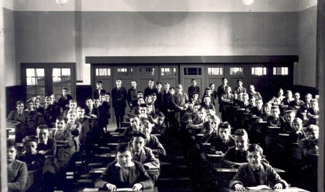 De studiezaal van het Beekvliet in Sint-Michielsgestel. Het BHIC heeft deze en zo'n 100 andere onderwijsinternaten online in kaart gebracht. Foto: BHIC