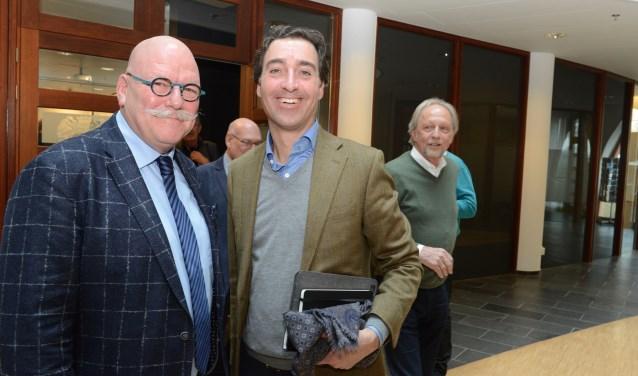 Henk Driessen (l) ik sta wel met Andries van der Netten van Stigt op de foto, maar dit is nog geen coalitieonderhandeling.