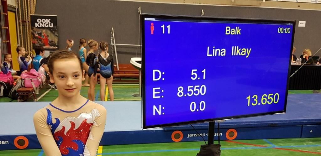 Lina Ilkay met hoogste balk score Foto: SVOD © Persgroep