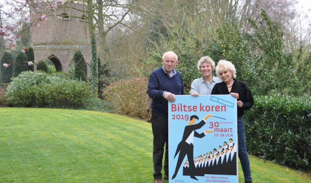 Organisatoren Jan, Ankie en Anneke zijn er klaar voor. FOTO: Julie Houben