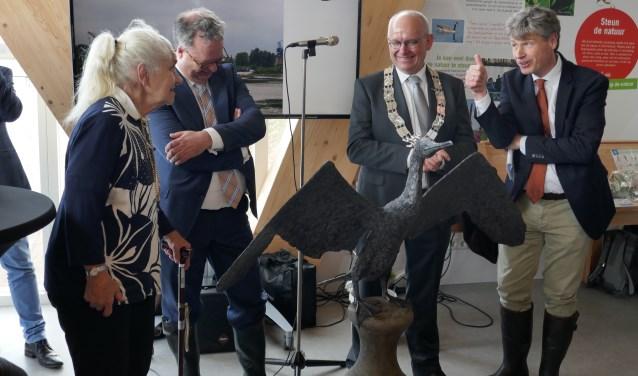 V.l.n.r.: Froukje Esscher, Hans Weber, Jan Heijkoop en Michiel Houtzagers.