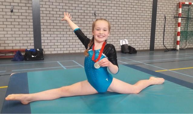 Anique met haar gouden medaille!