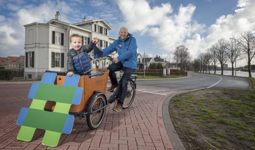 Ceriel Janssen fietst én loopt graag over de Oudhoornseweg.