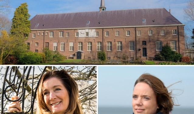 Angelien van de Heuvel (links) en Marijke van Gend houden een eendaagse ontspanningsretraite in het Emmausklooster.